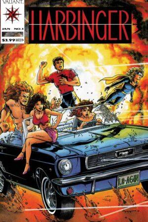 Harbinger 1 by Jim Shooter and David Lapham 2021 Facsimile